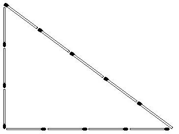 Обозначение сторон и углов в прямоугольном треугольнике.