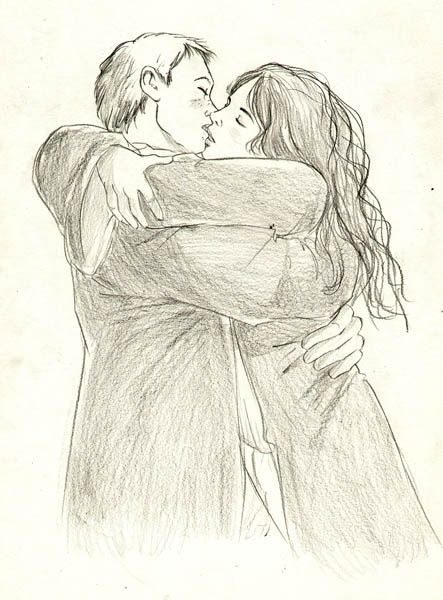 Как нарисовать поцелуй