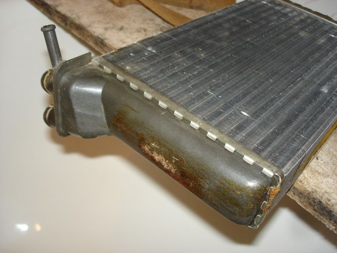 Как промыть радиатор печки