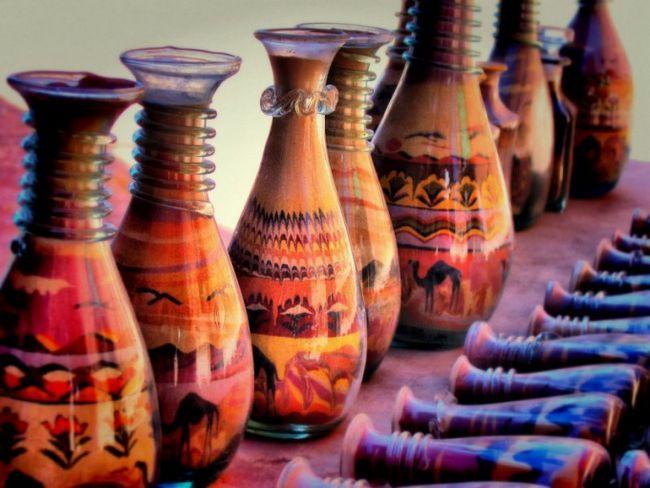 Как сделать картины из цветного песка в бутылке