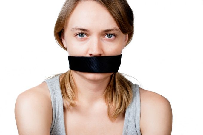 Как заставить женщину молчать