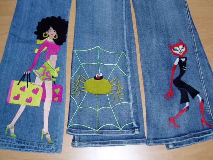 Как сделать джинсы