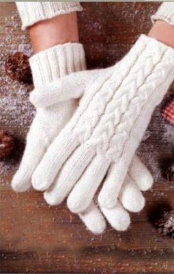 Как связать перчатки спицами